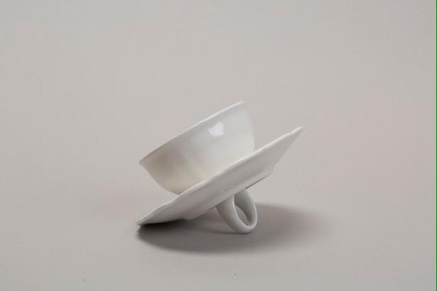 """Caffè non Caffè"", 2017, Glazed ceramic, 6x12x12 cm"
