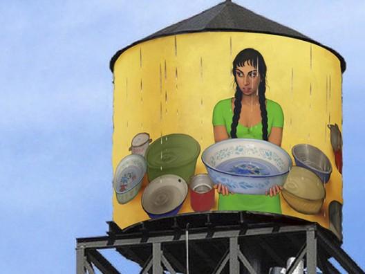 ETERI CHKADUA in NY: THE WATER TANK PROJECT